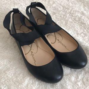 EUC Mandayss Ankle Strap Ballet Flat